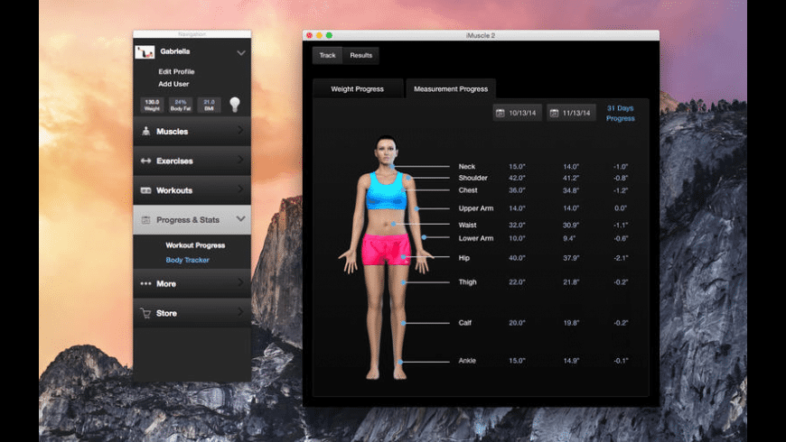 iMuscle for Mac - review, screenshots