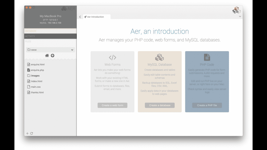 Aer for Mac - review, screenshots