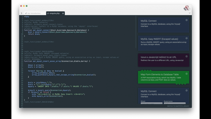 Aer for Mac - review, screenshots