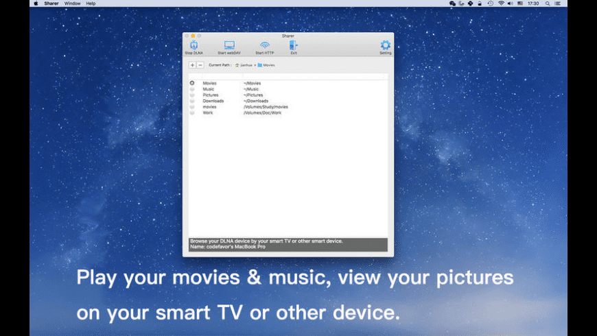 Sharer for Mac - review, screenshots