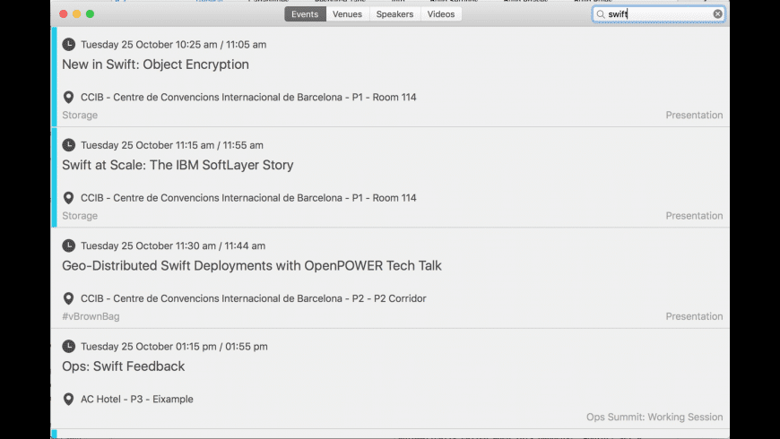 OpenStackSummit for Mac - review, screenshots