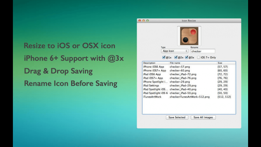 Icon Resize for Mac - review, screenshots
