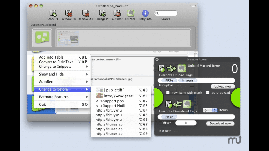 Pasteboard Recorder 3E for Mac - review, screenshots