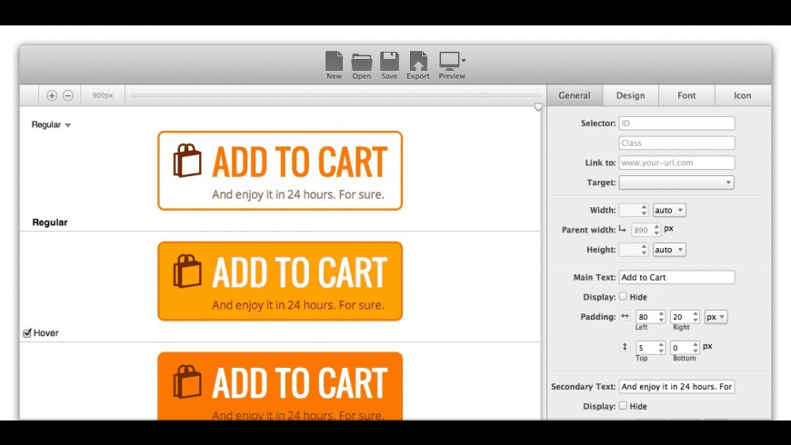 Button Builder for Mac - review, screenshots