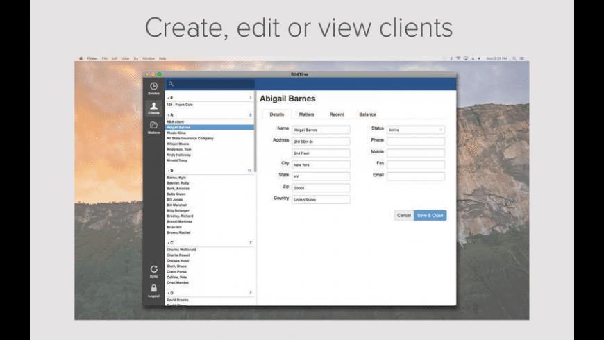Bill4Time for Mac - review, screenshots