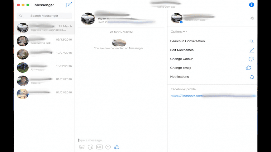 Facebook Messenger Ultimate for Mac - review, screenshots