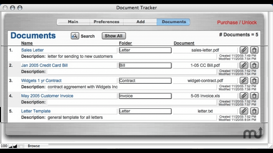 Document Tracker for Mac - review, screenshots