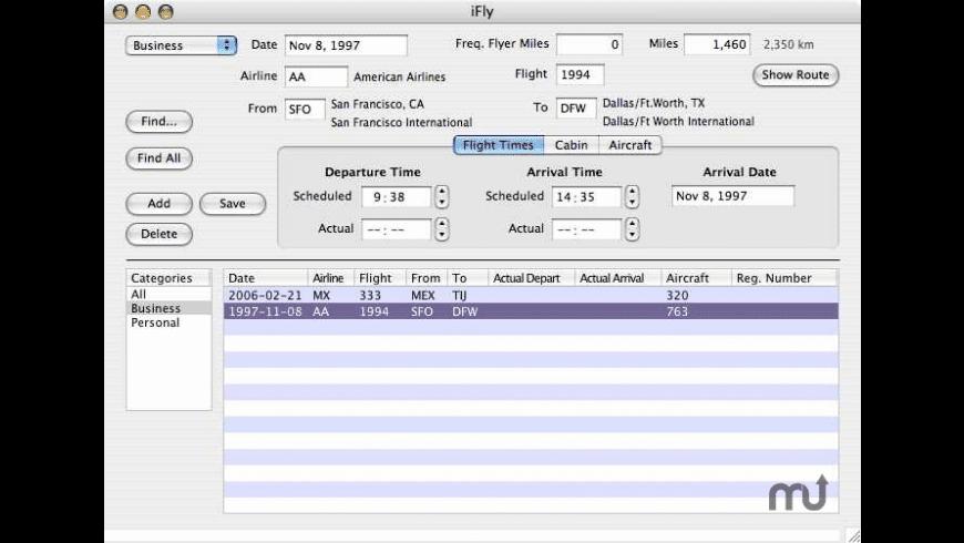 iFly for Mac - review, screenshots