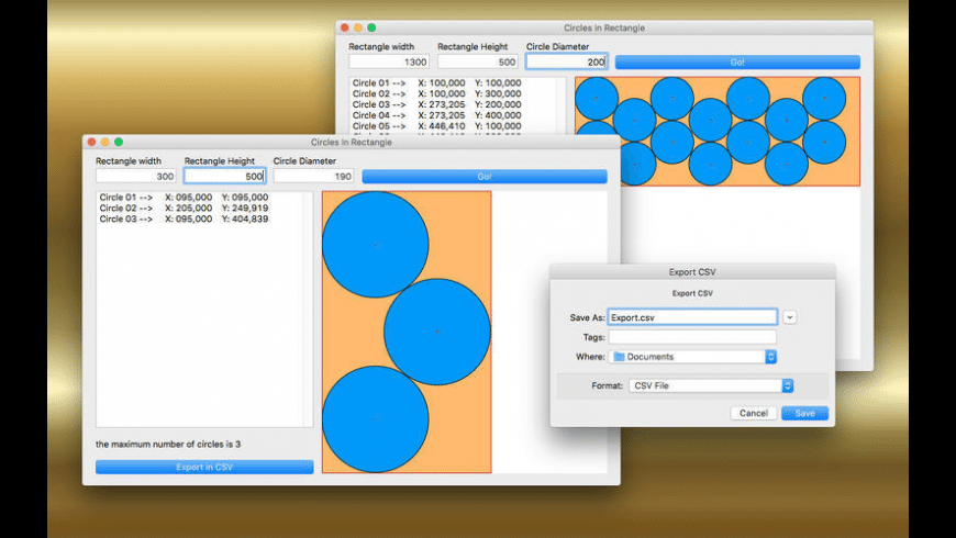 Circles in Rectangle for Mac - review, screenshots