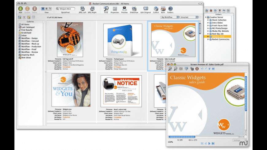 Extensis Portfolio for Mac - review, screenshots