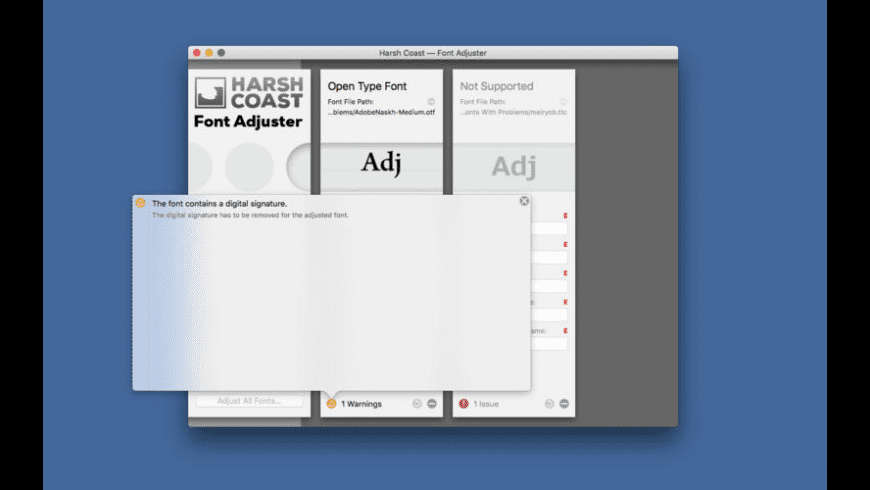 Font Adjuster for Mac - review, screenshots