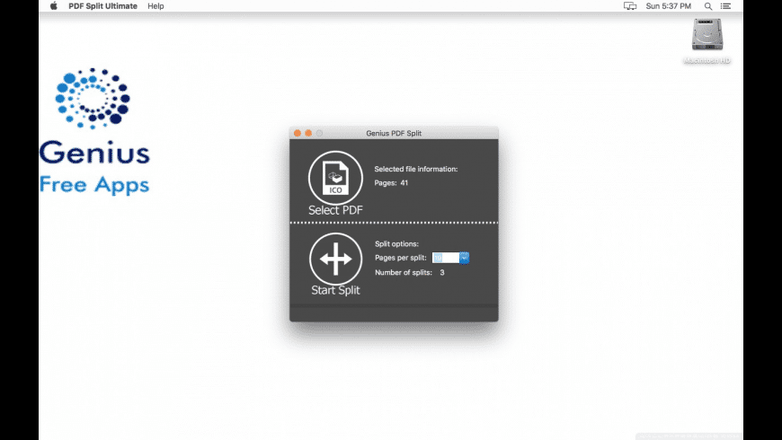 Genius PDF Split for Mac - review, screenshots