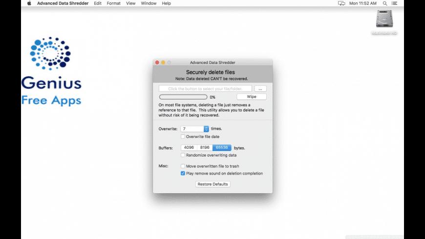 Advanced Data Shredder for Mac - review, screenshots