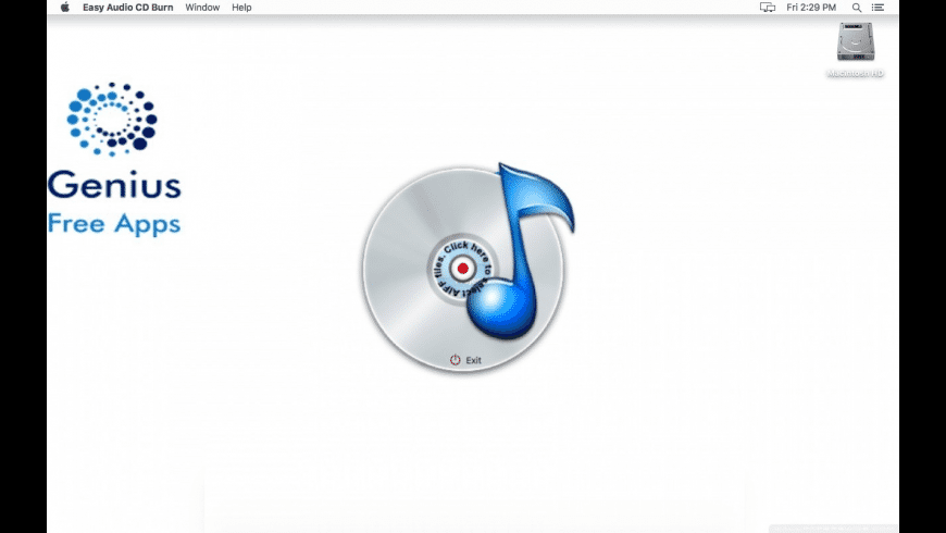 Easy Audio CD Burn for Mac - review, screenshots