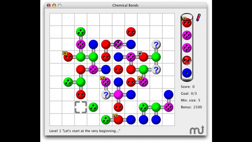 Chemical Bonds for Mac - review, screenshots