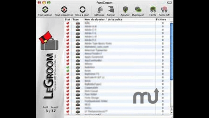 FontGroom for Mac - review, screenshots