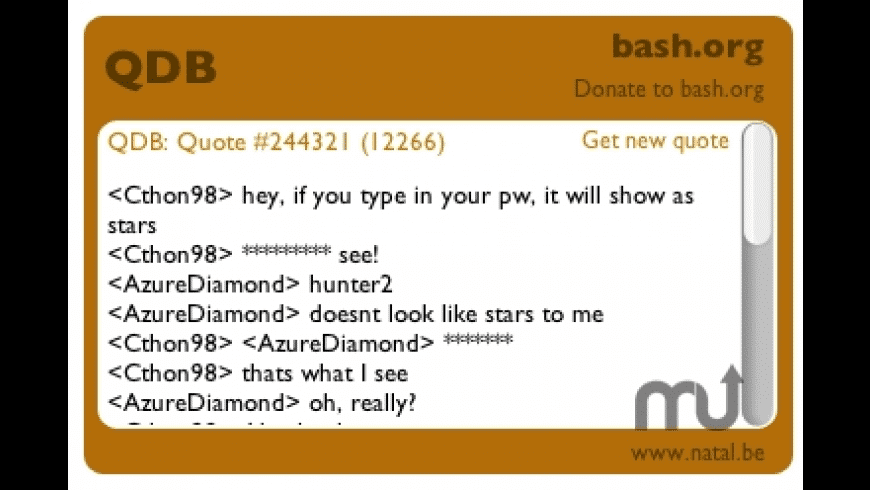 Bash.org widget for Mac - review, screenshots