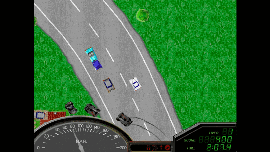 Screenshot of Reckless Drivin' with burnt cars