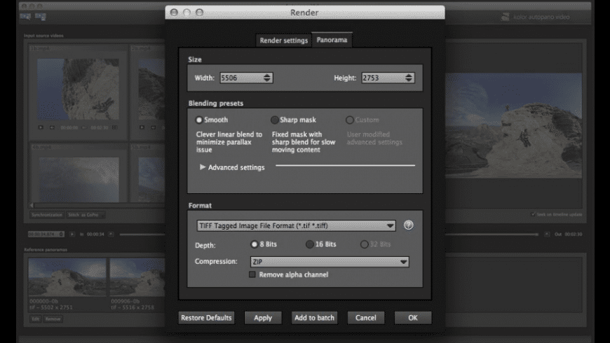 Autopano Video Pro for Mac - review, screenshots