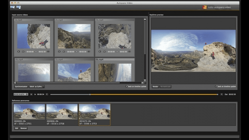 Autopano Video for Mac - review, screenshots
