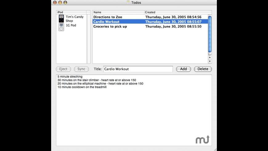memoPod for Mac - review, screenshots