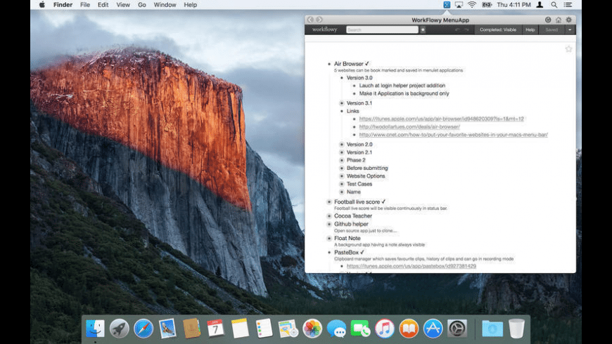WorkDone for Mac - review, screenshots