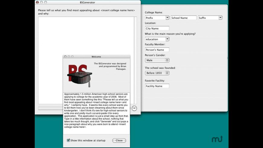 BSGenerator for Mac - review, screenshots