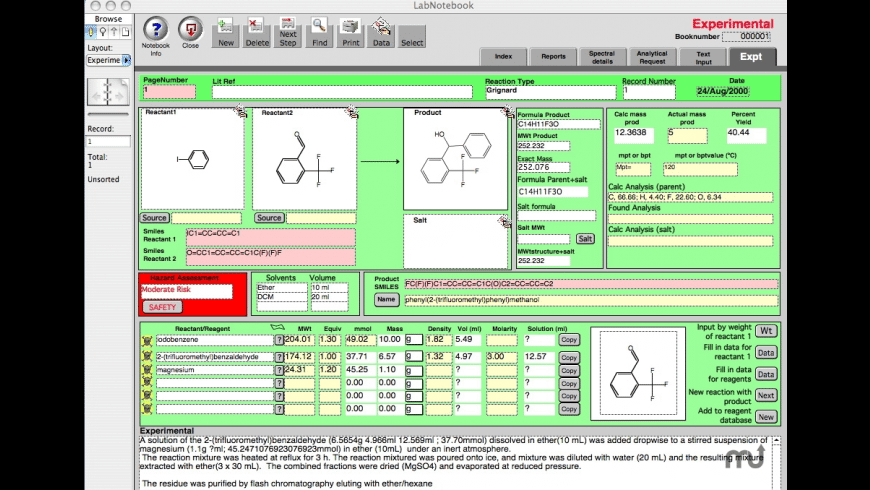 ChemLabNotebook for Mac - review, screenshots