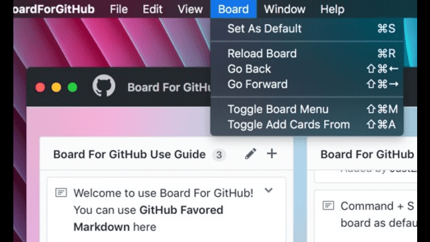 Board For GitHub for Mac - review, screenshots