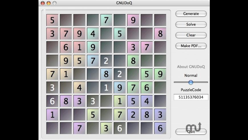 GNUDoQ for Mac - review, screenshots