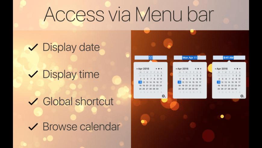 Mini Calendar for Mac - review, screenshots