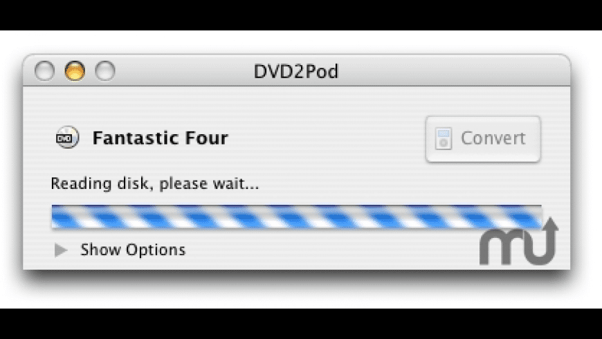 DVD2Pod for Mac - review, screenshots