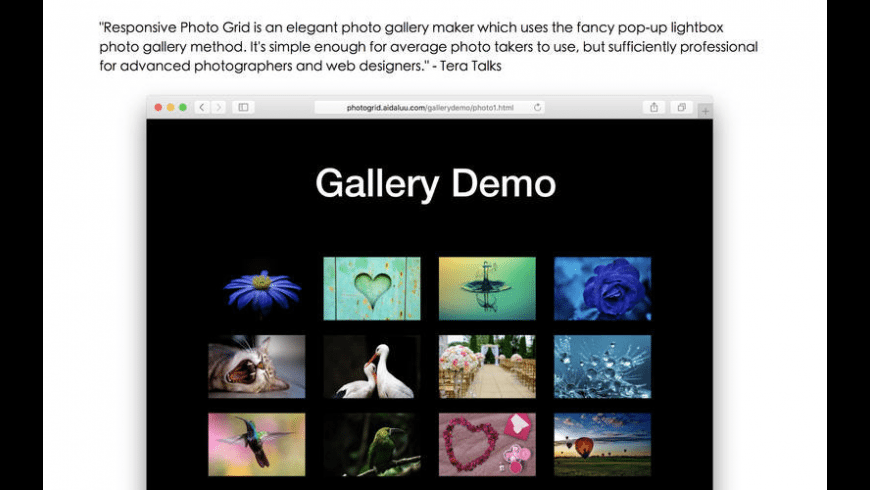 Responsive Photo Grid for Mac - review, screenshots
