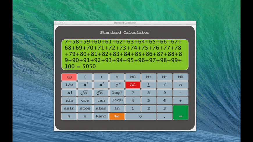 Standard Calculator for Mac - review, screenshots