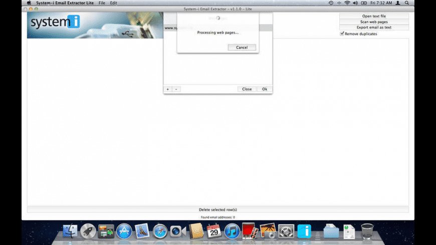 System-i Email Extractor for Mac - review, screenshots