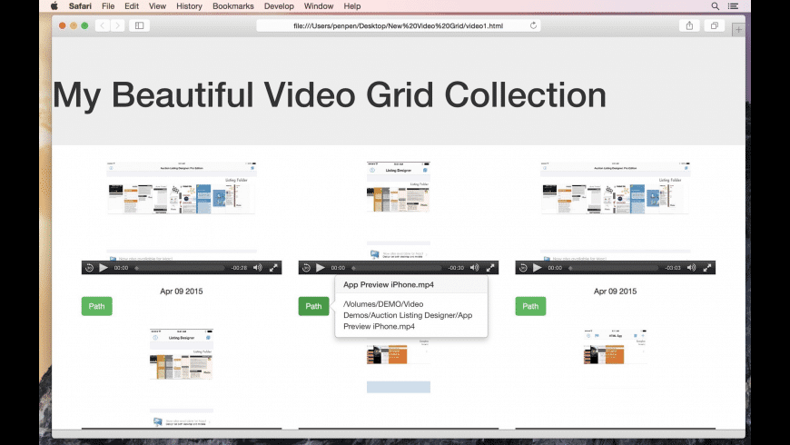 Responsive Video Grid for Mac - review, screenshots