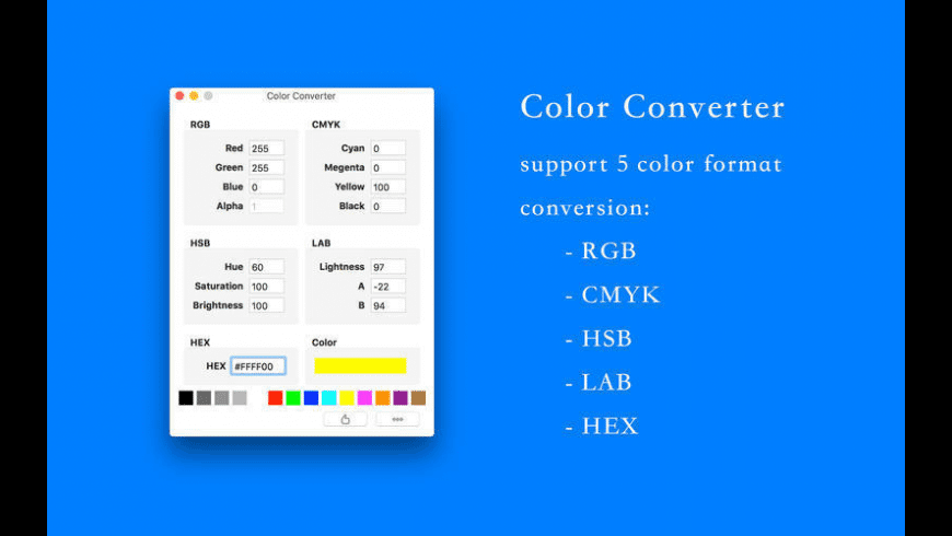 Color Converter for Mac - review, screenshots