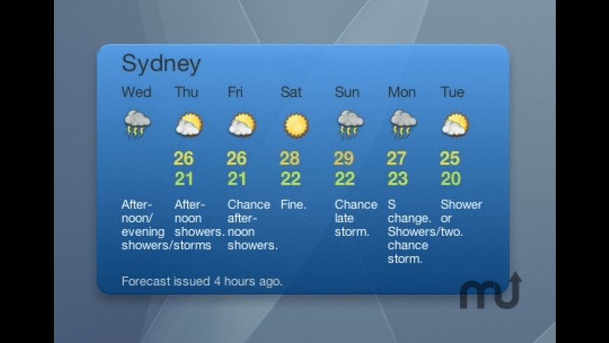 Weather Australia for Mac - review, screenshots