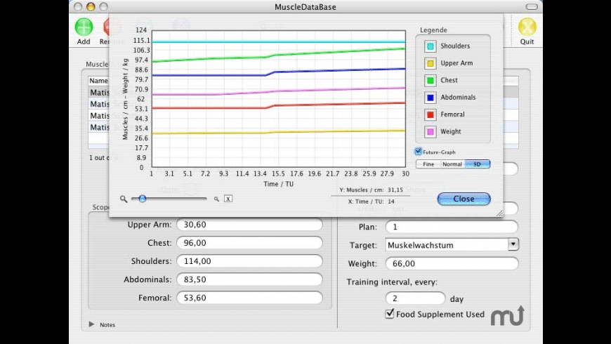 MuscleDataBase for Mac - review, screenshots