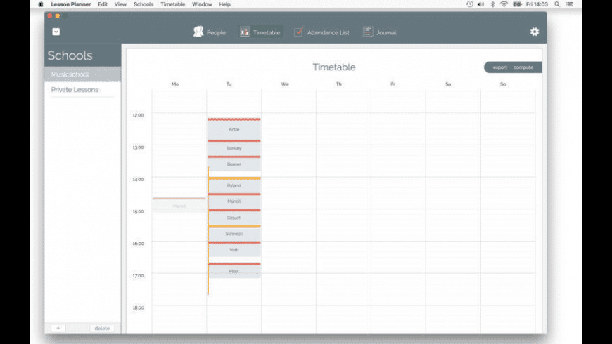 Lesson Planner for Mac - review, screenshots