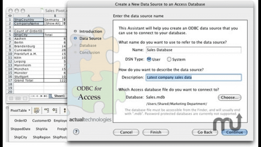 Actual ODBC Driver for Access for Mac - review, screenshots