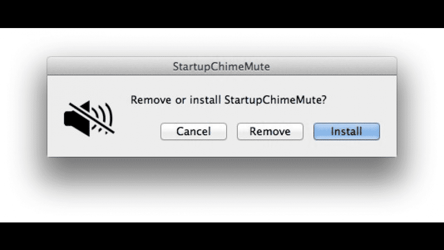 StartupChimeMute for Mac - review, screenshots