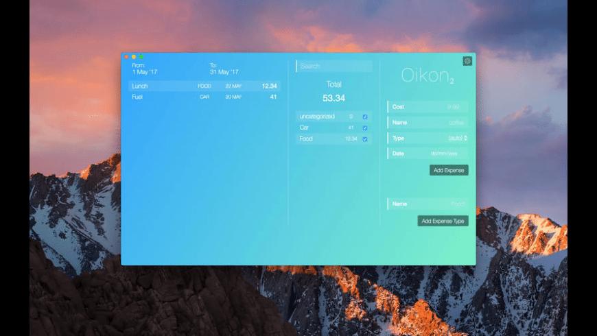 Oikon for Mac - review, screenshots