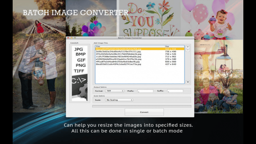 Batch Image Converter for Mac - review, screenshots
