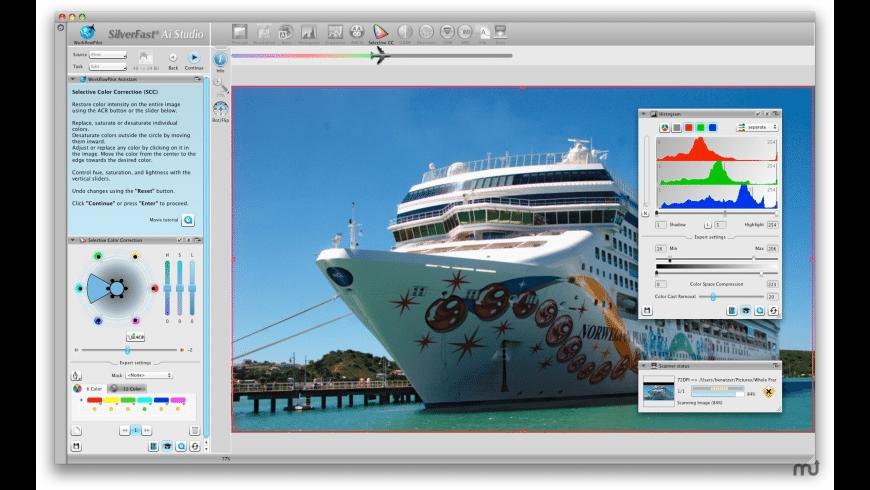 SilverFast (Plustek) for Mac - review, screenshots
