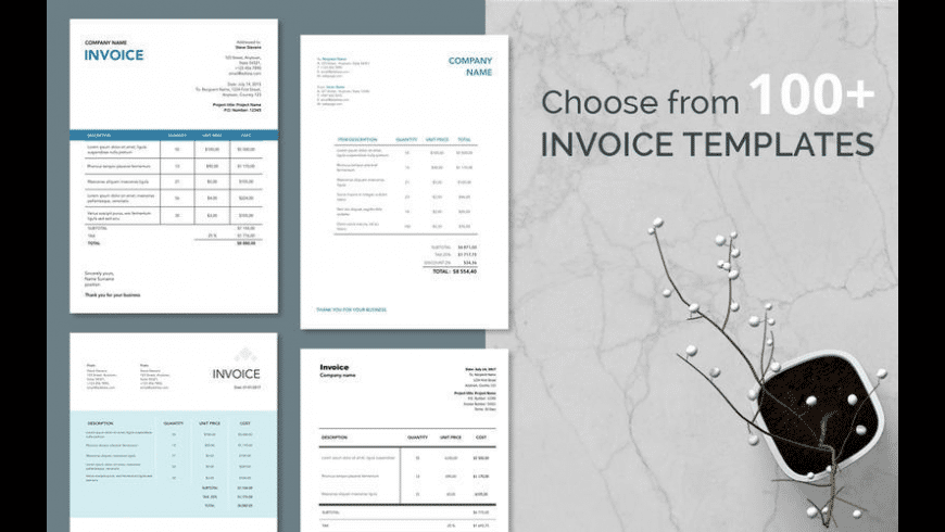 Quick Invoice for Mac - review, screenshots