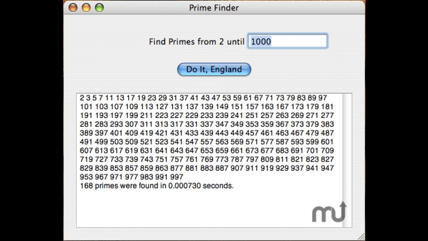 Prime Finder for Mac - review, screenshots