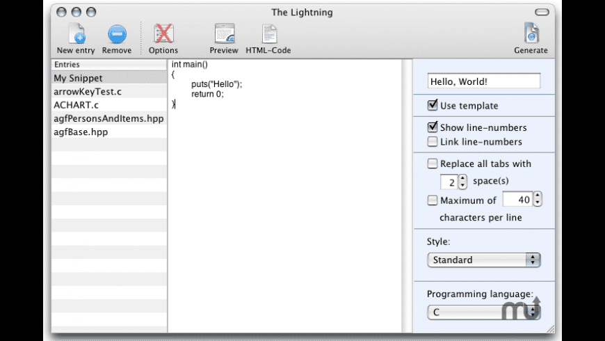 The Lightning for Mac - review, screenshots