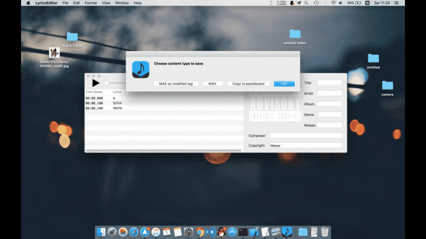Lyrics Editor for Mac - review, screenshots