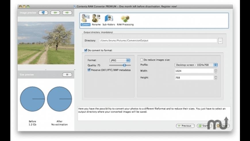Contenta RAW Converter for Mac - review, screenshots